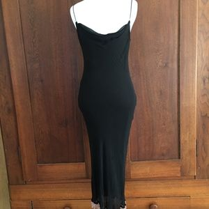 Small Betsey Johnson SILK Black Dress Beaded Hem